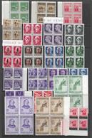 Italien - Selt./postfr. Viererblock-Lot Aus 1930/44 - Unbewertet! - Mint/hinged