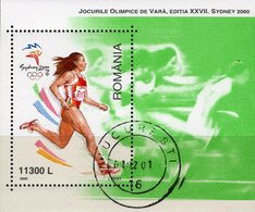 Sydney Sommer-Olympiade 2000 Rumänien Block 314 O 3€ Laufen Bloque Hoja Olympic Bloc Ss Sprint M/s Sheet Bf Romania - Gebraucht