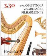 CROATIA, 2021, MNH , MUSIC, ZABREB PHILARMONIC ORCHESTRA,1v - Musica