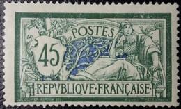 N°143 Merson 45c. Vert Et Bleu. Neuf* MH. - 1900-27 Merson