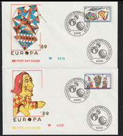Germany Two Covers 1989 FDC Europa CEPT   (G129-39) - 1989