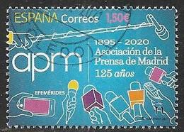 2021-ED. 5451 - Efemérides. 125 Años De La Asociación De La Prensa De Madrid  -USADO - 2011-... Used