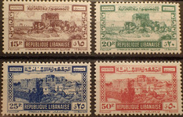 R2452/969 - 1945 - COLONIES FR. - REPUBLIQUE LIBANAISE - SERIE COMPLETE - N°193 à 196 NEUFS* - Neufs