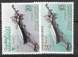 Kuwait Mh * 1970 Complete Ship Oil Tanker Set 6 Euros - Kuwait