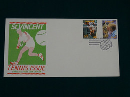 St. Vincent 1987 Tennis Issue FDC VF - St.Vincent (1979-...)