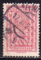 AUSTRIA ÖSTERREICH 1922 1924 SYMBOLS OF AGRICOLTURE 200K USED USATO OBLITERE' - Used Stamps