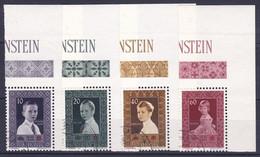 Liechtenstein 1955: Fürstenkinder Enfants Princier Zu 282-285 Mi 338-341 Yv 300-303 Mit O & Eckrand (Zumstein CHF 20.00) - Gebraucht