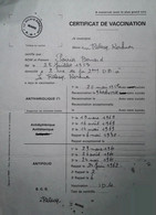 G 25 Facture/document /carte Certificat De Vaccination - Medizinische Und Zahnmedizinische Geräte