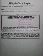G 25 Facture/document /carte Professeur De Quimper - Diploma & School Reports