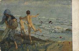 E TITO  Enfants (nus) Au Bord De La Mer  RV - Paintings
