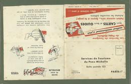CARTE POSTALE REPONSE  DOCUMENT PNEU MICHELIN 1955 - Advertising