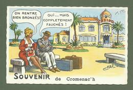 CARTE POSTALE SOUVENIR DE CROMENACH MORBIHAN 56 ILLUSTRATEUR CHAP - Other Municipalities