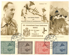 (NN 13) 1953 Maxicard With Lord Baden Powell And Emanuel Prince Of Liechtenstein (for Int. Scout Conference) - Scouting
