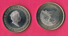 Gibraltar 2 Pound - Sandy Bay - 2020- Bimetal - RARE! - Gibraltar