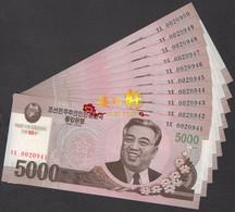 Korea Commemorative  2008 5000 Won UNC 10pcs - Korea, North