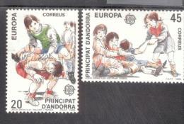 CEPT Kinderspiele Andorra E 209 - 210  MNH ** Postfrisch - 1989