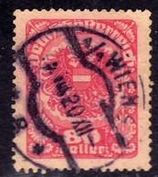 AUSTRIA REPUBBLICA REPUBLIC ÖSTERREICH 1920 1921 ARMS STEMMA ARMOIRIES 80h USED USATO OBLITERE' - Used Stamps