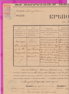261686 / Bulgaria 1889 - 30 Santim (1879)  , Revenue Fiscaux , Fortress Deed For Land - Svishtov Notary , Bulgarie - Other