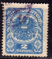 AUSTRIA REPUBBLICA REPUBLIC ÖSTERREICH 1920 1921 ARMS STEMMA ARMOIRIES 2K USED USATO OBLITERE' - Used Stamps
