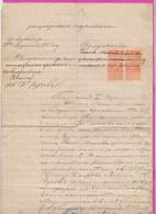 261690 / Bulgaria 1899 - 2 X 30 Stotinki  (1894)  , Revenue Fiscaux , Sales Protocol - Dupnitsa Dupnica  , Bulgarie - Other