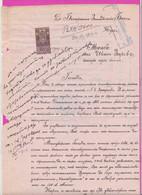 261699 / Bulgaria 1914 - 50 Stotinki  (1911)  , Revenue , Application To The Bulgarian Agricultural Bank - Radomir - Other