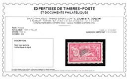 Signé CALVES + Certificat - Merson YV 208 N* Parfaitement Centré Cote 230 Euros + 50% - Unused Stamps