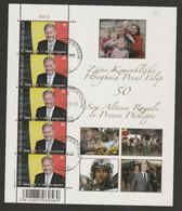 F 4035 Feuillet De 5 Prince Philippe/Koning Filip Oblit/gestp - Hojas