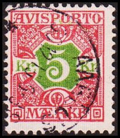 1907. Newspaper Stamps. 5 Kr. Red/green Wmk. Crown.  (Michel V9X) - JF417919 - Postage Due