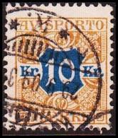 1907. Newspaper Stamps. 10 Kr. Brown/blue Wmk. Crown. (Michel V10X) - JF417920 - Postage Due