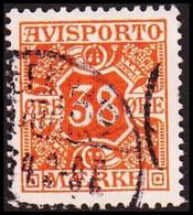 1914. Newspaper Stamps. 38 Øre Orange. Wmk. Crosses. (Michel V6Y) - JF417921 - Postage Due