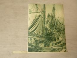 """Origineel Knipsel ( 3838 ) Uit Tijdschrift """" De Stad """" 1937 :  Visser  Vissersvloot  Vissersboot  Heyst  Heist - Zonder Classificatie"""