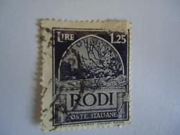 RODI   RODOS     ITALY USED   STAMPS OVERPRINT - Aegean (Rodi)