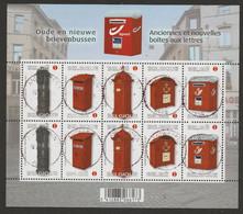 F 4130/F 4134 Feuillet De 10 Anciennes Et Nouvelles Boites Aux Lettres/Oude En Nieuwe Brievenbussen Oblit/gestp Centrale - Panes