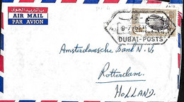 Dubai. L. TPA 4 (Yv.)  Dubai > Rotterdam   9/7/63 - Dubai