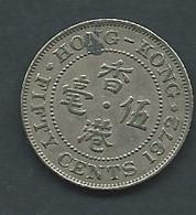 Piece  HONG KONG - 50 CENTS 1972  Pic5211 - Hong Kong