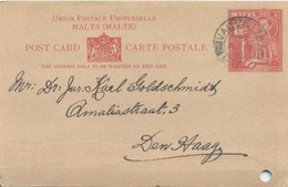 Valetta Malta, Post Card (1939) - Malta