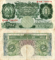 United Kingdom / 1 Pound / 1955 / P-369(c) / VF - Unclassified