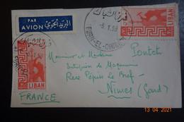Lettrede FURN EL CHUBBURN 1959 - Líbano