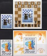 König Schachspiel 1991 Vietnam 1342,Block 18,2372+Bl.91 ** 24€ Schach Hoja Blocs Bloque Sheets Ss History Bf Chess - Chess