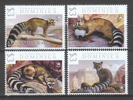 Dominica - MNH Set RING TAILED CAT - Big Cats (cats Of Prey)