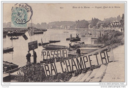 94) RIVES DE LA MARNE - NOGENT QUAI DE LA MARNE  (ANIMEE - PASSEUR - BAL CHAMPETRE) - Nogent Sur Marne