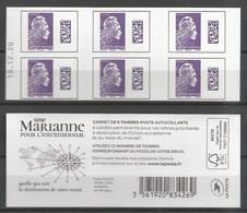 Carnet Marianne L'engagée - International - Couverture Blanche - Philaposte - Y&T N° 1656 ?? - Neuf** Non Plié - Usados Corriente