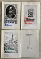 1975 - De Brabantse Folklore - Inhoudsopgave => Zie Foto's - Elewijt Halle Bijgeloof Geesten Zeden Tienen Brabant ..... - Geschichte