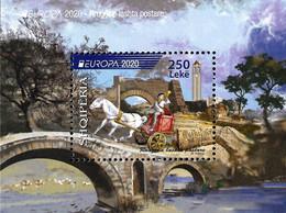 """ALBANIA 2020 """" Europe 2020 - Ancient Postal Routes """" BLOCK MNH - Albania"""