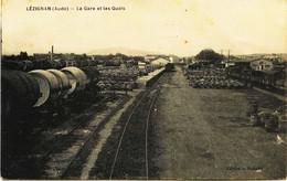 6584  - Aude - LEZIGNAN  : La Gare Et Les Quais  Circulée En 1917 - Andere Gemeenten
