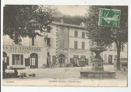 26 Drome Peyrins Café Des Voyageurs Achard Et De L'europe A La Grande Place - Autres Communes