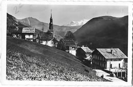 74 - Hte Haute Savoie - HAUTELUCE - 1150 M - Vue Générale Et Le Mont-Blanc - - Autres Communes