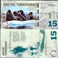 ARCTIC TERRITORIES 15 DOLLARS 2011 POLAR POLYMER UNC - Unclassified