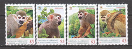 Grenada Grenadines - MNH Set COMMON SQUIRREL MONKEY - Mono