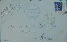 31 - Hte Garonne - Timbre FM N°8 Obl Leguevin 1942 + Cachet Groupe De Le Province/Pyrénnées Gascogne Groupe O'BYRNE - WW II